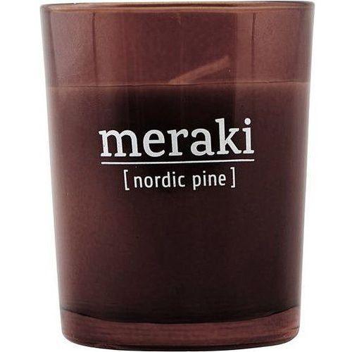 Świeca zapachowa Meraki w ciemnym szkle mała Nordic Pine (5707644476127)