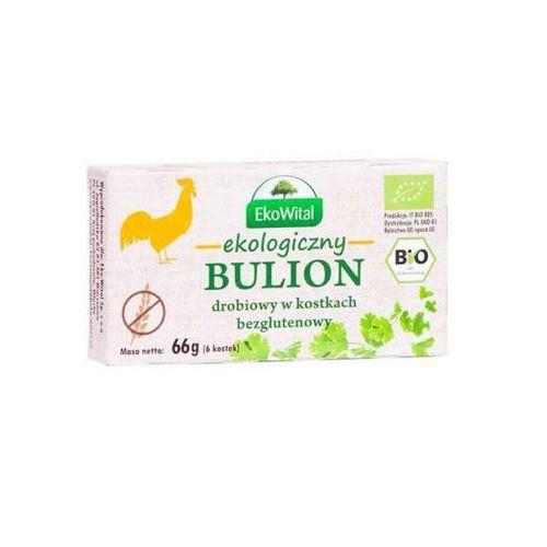 Bulion drobiowy w kostkach bezglutenowy bio 66 g marki Eko wital