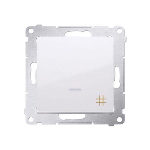 Łącznik krzyżowy Simon 54 DW7L.01/11 z podświetleniem LED biały Kontakt-Simon (5902787822705)