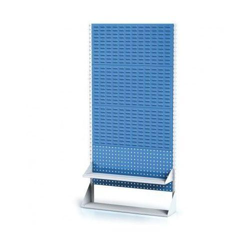 Perforowany stojak z panelem na pojemniki, narzędzia i półkę 4 piętra, podstawowe pole marki B2b partner