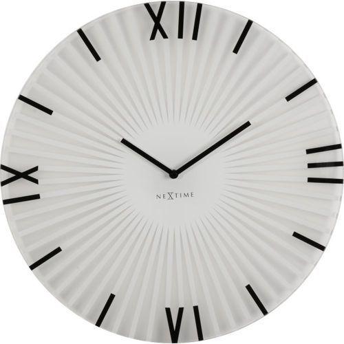 Nextime Zegar ścienny sticks 43 cm, biały (8175 wi)