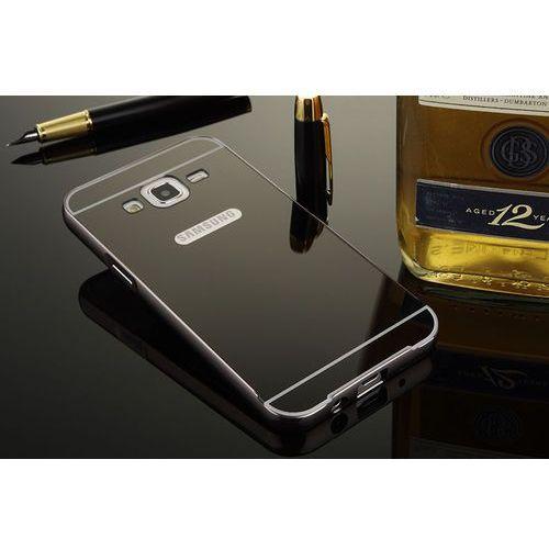 Mirror Bumper Metal Case Czarny | Etui dla Samsung Galaxy J5 - Czarny z kategorii Futerały i pokrowce do telefonów