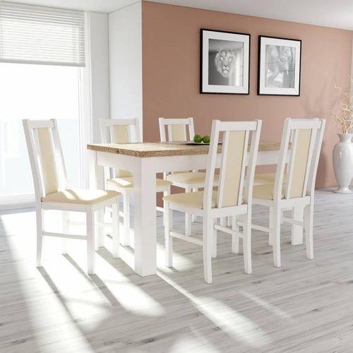 Drewmix Stół s-44, 80x160/200 + 6 krzeseł boss xiv