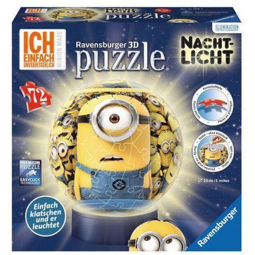 Puzzle 3d minionki kuliste 72 lampka marki Ravensburger