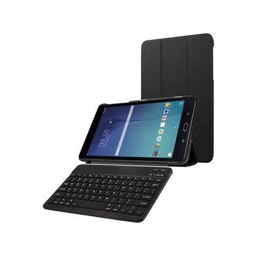 Etui book cover Samsung Galaxy Tab E 9.6 Czarne +klawiatura - Czarny