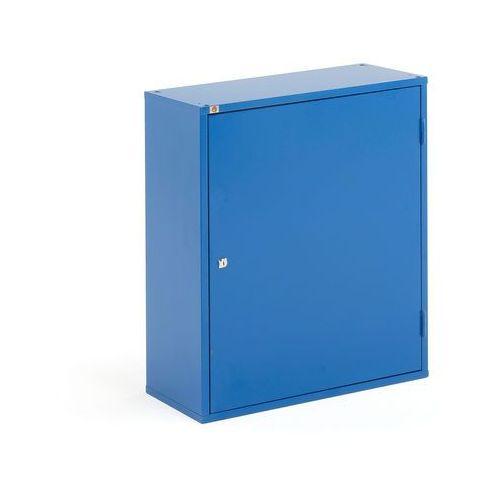Szafka warsztatowa SERVE, bez pojemników, 800x600x275 mm, niebieski
