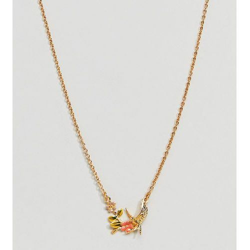 Bill Skinner Gold Plated Enamel Swallow Pendant Necklace - Gold