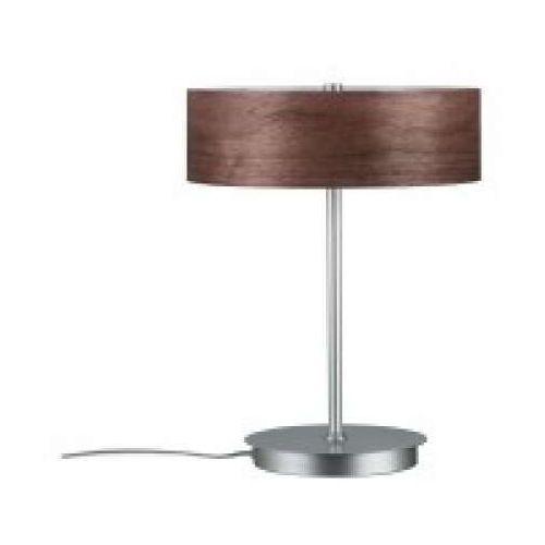 Oprawa stołowa neordic liska 2-lampowa wood ciemna / chrom matowa, 79684 marki Paulmann