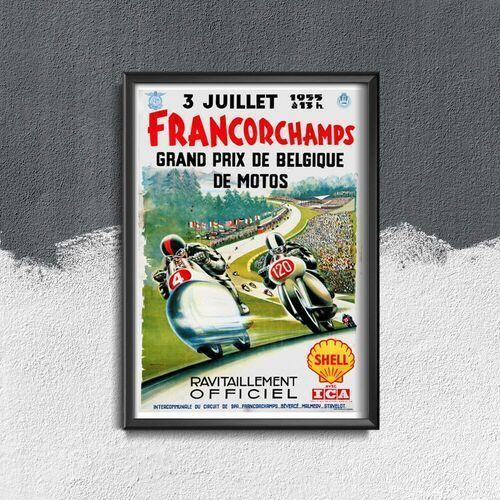 Vintageposteria.pl Plakat do pokoju plakat do pokoju francorchamps grand prix de belgique