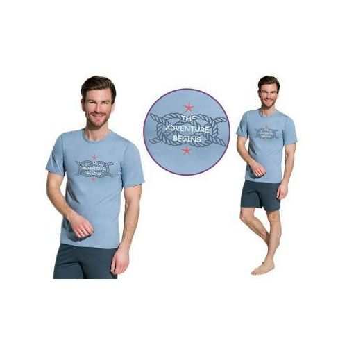 Piżama męska GAJUSZ: brudny błękit