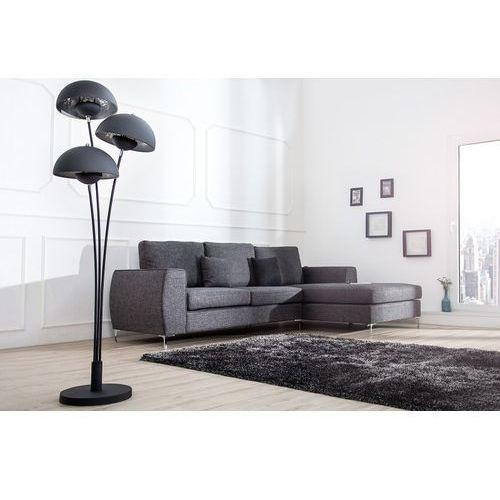 Lampa podłogowa renoxe 170 cm trzy klosze srebrna marki Interior