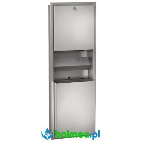 Zestaw: Podtynkowy pojemnik na ręczniki, pojemnik na odpady oraz dozownik mydła ze stali nierdzewnej Franke Rodan (7612210075384)