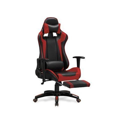 Fotel gamingowy Halmar DEFENDER 2 z podnóżkiem czerwony, H-DEFENDER-2-czerwony