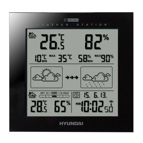 Hyundai Stacja pogody ws2244b czarny + zyskaj nawet 300 zł rabatu! + darmowy transport! (8592417046464)
