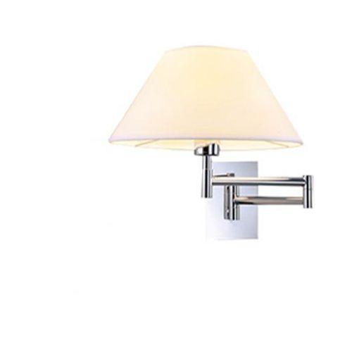Azzardo trapezio mb2311-s wh kinkiet lampa oprawa ścienna 1x60w e27 biały / chrom (5901238415428)