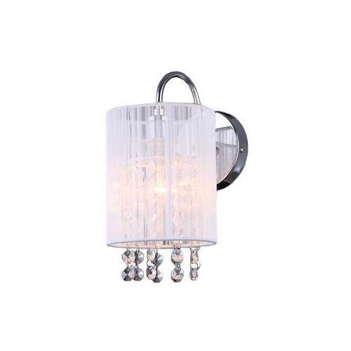 Kinkiet Italux Lana MBM1787/1 WH z kryształami lampa ścienna 1x40W E14 biały (5900644401292)