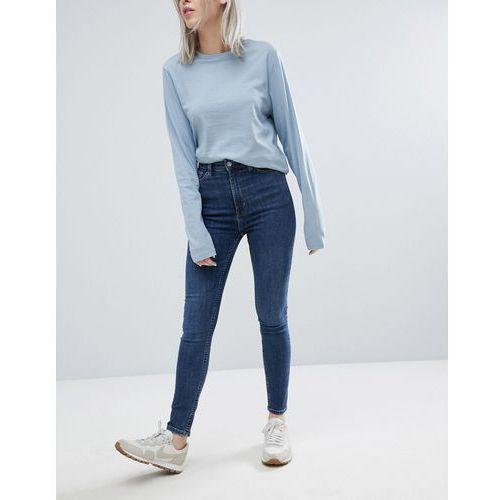 Weekday body high waist super stretch skinny jeans - blue