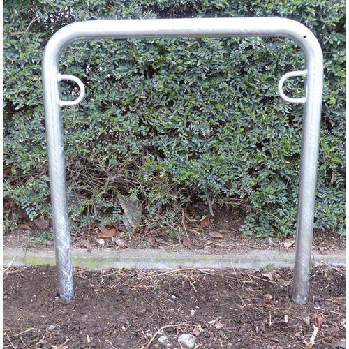 Melzer metallbau gmbh & co. kg Pałąk wsporczy do rowerów, wys. 850 mm ponad podłożem, do wbetonowania, ocynkowa