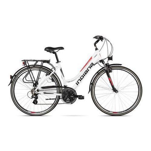 Rower INDIANA X-Road 1.0 D19 Biało-Czerwony Połysk + 5 lat gwarancji na ramę! ()