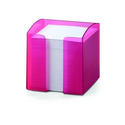 Durable Pojemnik na karteczki trend przezroczysty różowy