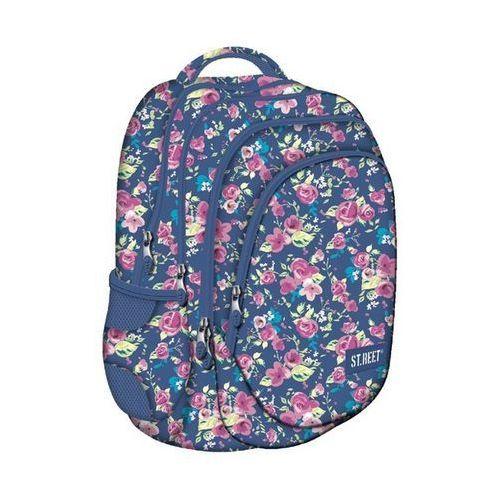 St. majewski St.reet plecak szkolny bp-06 kwiaty różowe 609046, kategoria: tornistry i plecaki