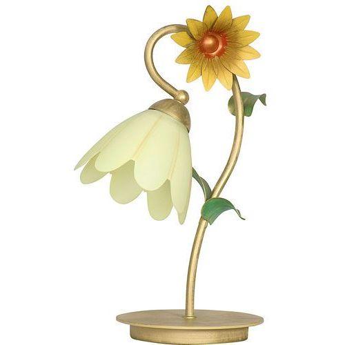 Luminex Lampa lampka oprawa stołowa słonecznik 1x60w e27 złoty/krem 4698