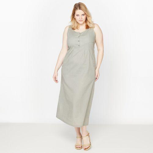 4c18226077 ... Długa sukienka z lnu i bawełny marki Castaluna