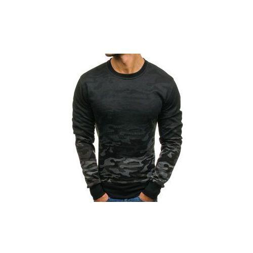 Bluza męska bez kaptura moro-grafitowa denley dd134-2, J.style