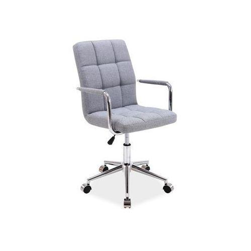 Fotel obrotowy, krzesło biurowe Q-022 szara tapicerka