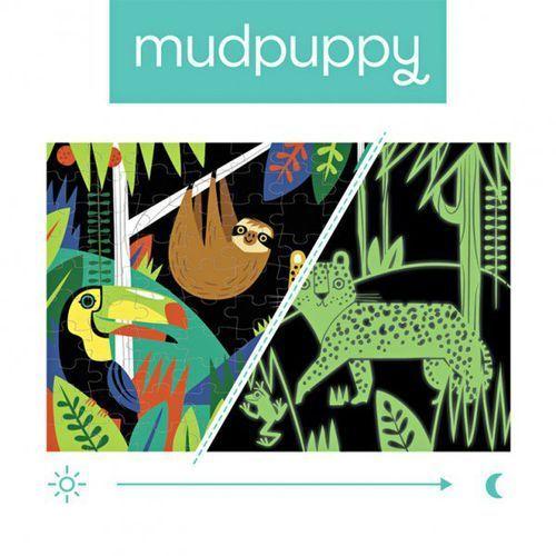 puzzle świecące w ciemności las tropikalny 100 elementów 5+ marki Mudpuppy