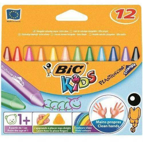 Kredki świecowe kids plastidecor triangle 829773 12kol. marki Bic