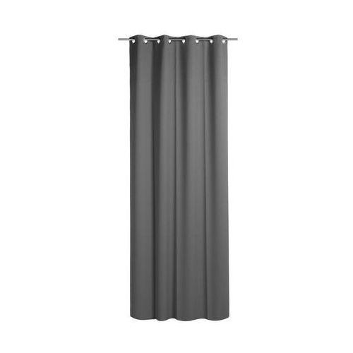 Zasłona zaciemniająca BLACKOUT ciemnoszara 140 x 260 cm na przelotkach INSPIRE (3276000365471)