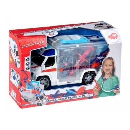 SIMBA SOS Ambulans z zestawem lekarskim, 33 cm - 203716000, kup u jednego z partnerów