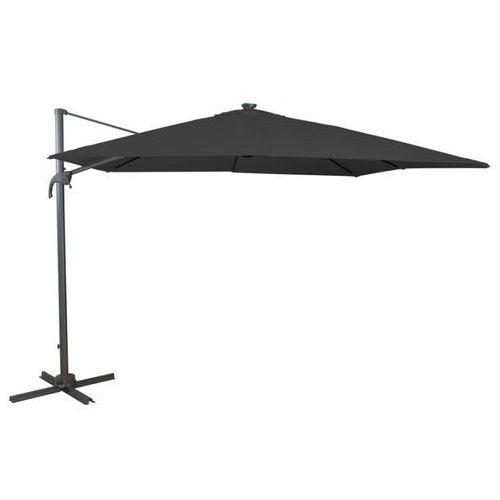 Ogrodowy parasol wahadłowy potosi ze stali, z oświetleniem led – kolor szary marki Vente-unique