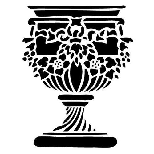Szabloneria Szablon do malowania, wielorazowy, wzór przedmioty 3 - donica 1