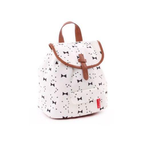 Candide kidzroom plecak black and white wstążki, biały