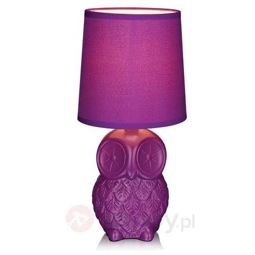 Helge 105313 lampa stołowa fioletowa sowa Markslojd, 105313
