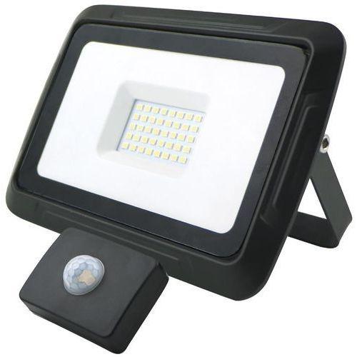 oprawa lampa naświetlacz halogen led 30w barwa zimna z czujnikiem ruchu i zmierzchu 13136 marki Kobi