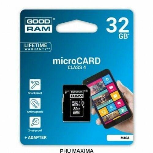 KARTA PAMIĘCI GOODRAM MICRO SD 32GB CLASS 4 ADAPTER, 4B72-556EA_20160927000617