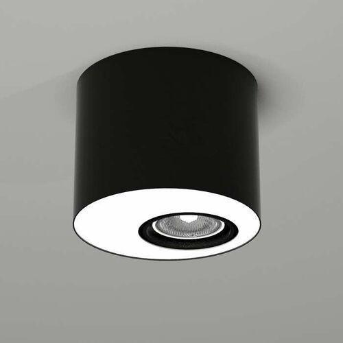 Lampa sufitowa toki 1123 natynkowa oprawa downlight do łazienki okrągły czarny marki Shilo