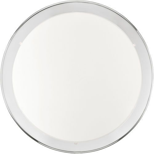 Plafon Eglo Planet 82944 lampa oprawa sufitowa 2x60W E27 biały/chrom, kolor chrom,