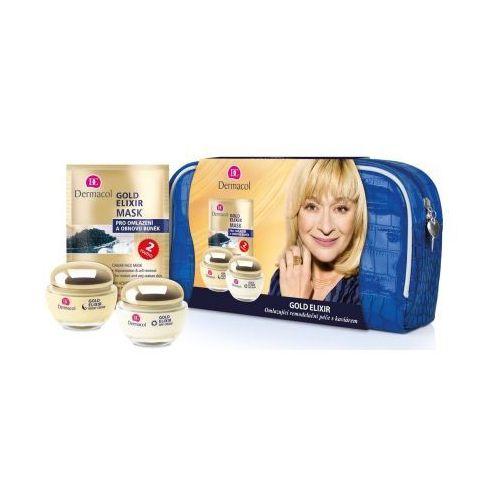Dermacol  gold elixir zestaw 50ml gold elixir day cream + 50ml gold elixir night cream + 2x8g gold elixir mask dla kobiet
