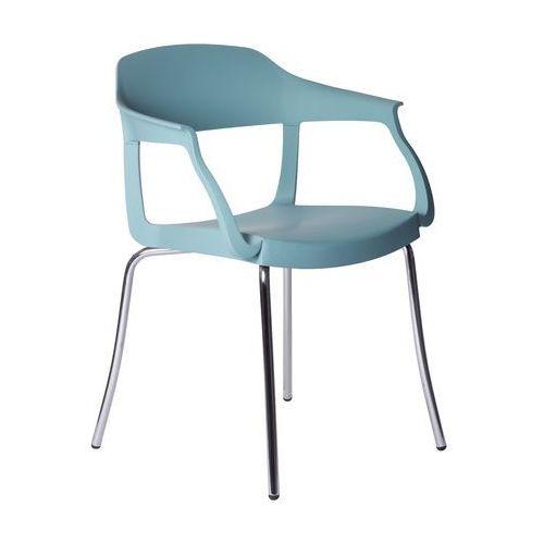 Krzesło Evo Strass P Green niebieskie, kolor niebieski