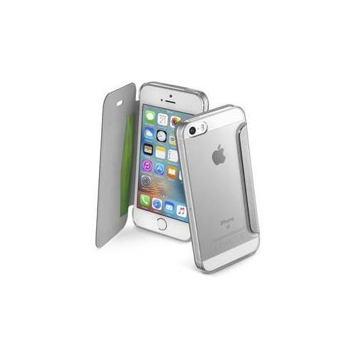 Cellularline Pokrowiec na telefon clear book pro apple iphone 5/5s/se (clearbookiph5s) srebrne