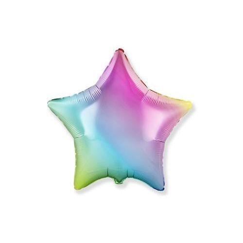 Flexmetal balloons Balon foliowy gwiazda ombre pastelowy - 46 cm - 1 szt.
