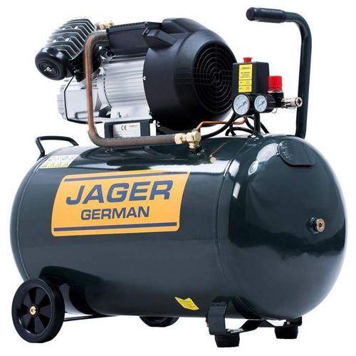 Jager german Sprężarka powietrza tłokowa kompresor tłokowy olejowy 2.2kw 100l v2 8bar 290l/min 230v mocna rzecz