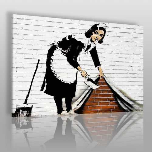 Vaku-dsgn Banksy - pokojówka - nowoczesny obraz na płótnie