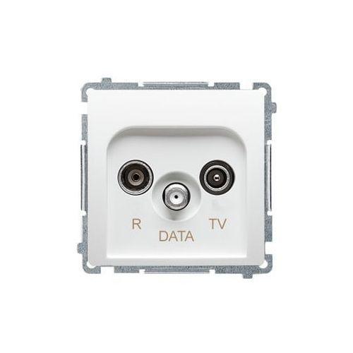 Kontakt simon basic - gniazdo antenowe r-tv-data białe bmad.01/11 marki Kontakt - simon s.a.