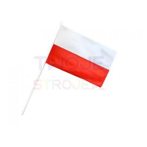 Twojestroje.pl Flaga polska patyk biało-czerwona 30x21cm (5900290123357)