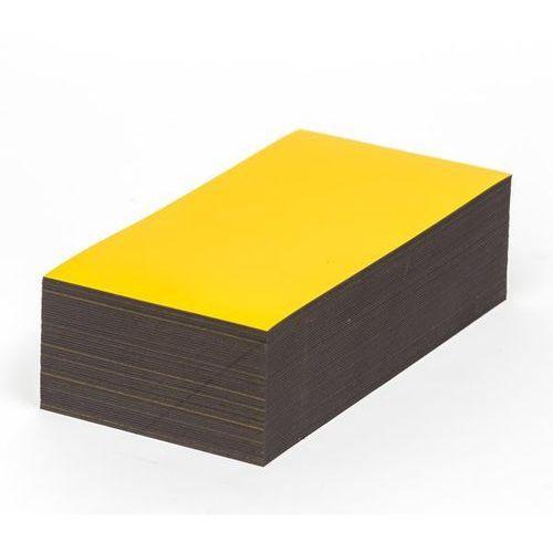 Magnetyczna tablica magazynowa, żółte, wys. x szer. 100x200 mm, opak. 100 szt. Z